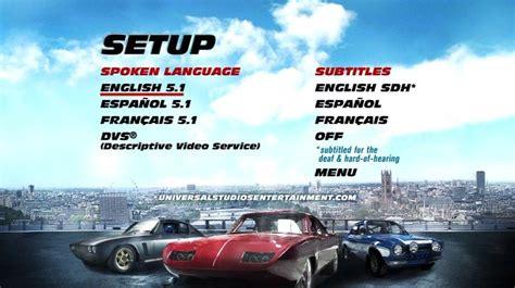 dvd fast fast furious 6 2013 dvd menus