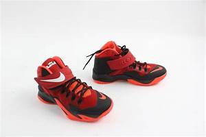 Nike Zoom LeBron James Soldier 8 GS Shoes, Red and Black ...