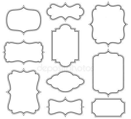 cornici lettere da stare iconic dragons border frames tribal vector set