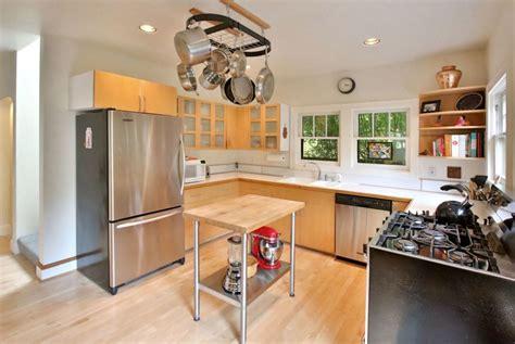 stainless steel pots   modern kitchen