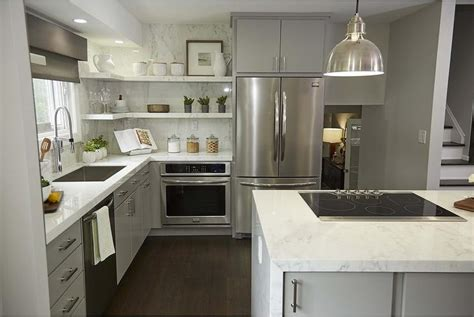 white upper cabinets gray  cabinets transitional
