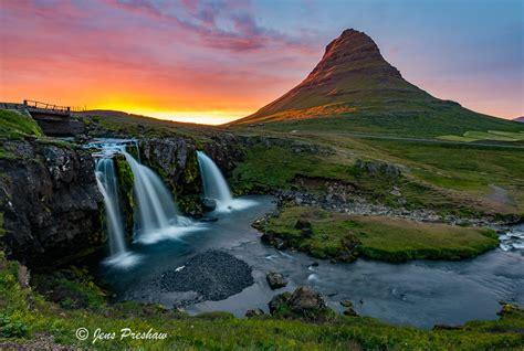 Kirkjufell Mountain Sunset Iceland Jens Preshaw