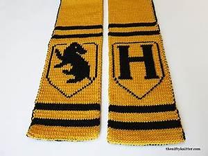 Dragon Knitting Chart Ravelry Hufflepuff Spirit Scarf Pattern By Hannan Fox