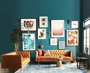 Deco Bleu Petrole : couleur peinture salon conseils et 90 photos pour vous ~ Farleysfitness.com Idées de Décoration