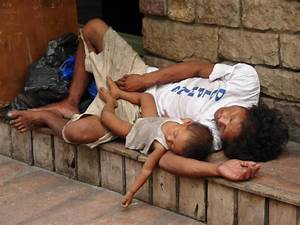 Philippines Street Children Man and Son