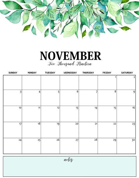 november  calendar  holidays net market media