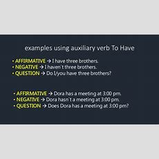 Simple Present Auxiliary Verbs