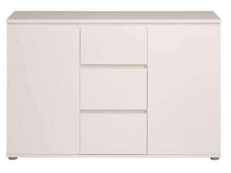 magasin de canapé pas cher enfilade 2 portes 3 tiroirs neo coloris blanc vente de