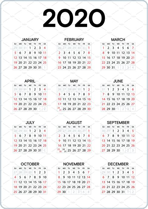 pocket calendar   graphics creative market