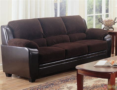 corduroy sofa and loveseat monika two toned dark brown corduroy casual living room