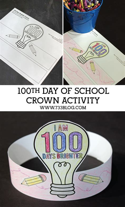 100th Day Of School Crown Template 100 Days Brighter Crown Activity Inspiration Made Simple
