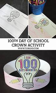 100 days brighter crown activity inspiration made simple With 100th day of school crown template
