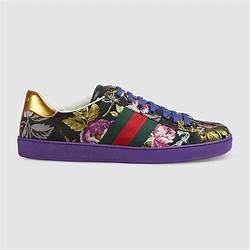 f0fc0101e7c Ace Floral Jacquard Sneaker Gucci Men s Sneakers
