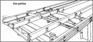 lysaght cee c purlin girt roof sample layout Steel Sheds