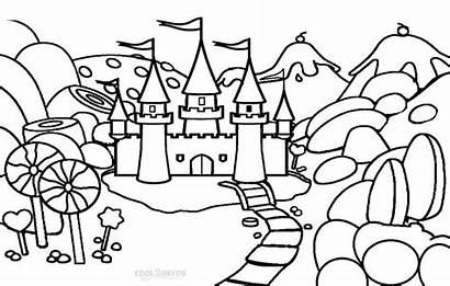 Coloring Pages Candyland Candy Castle Printable