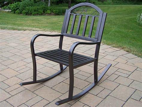 iron patio rocker modern patio outdoor