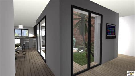 plan de maison avec patio interieur maison de ville avec patio