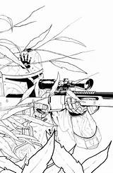 Mandalorian Coloring Draw Zerimar Ram Sketch Deviantart sketch template
