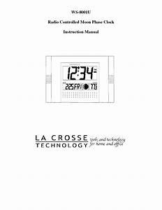Radio Controlled Moon Phase Clock Ws-8001u Manuals