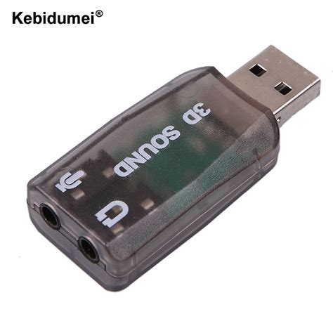 kebidumei wholesale usb sound card usb audio 5 1 external adapter mic speaker audio interface