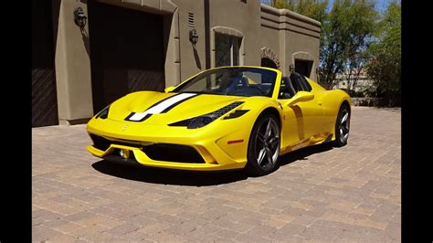 ferrari  speciale   yellow  engine start