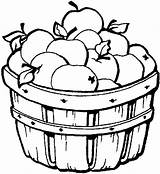 Coloring Apple Candy Clip Fall Apples Picking Colouring Template Fruit Sheet Clipart sketch template