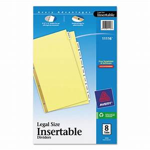 ave11116 avery insertable standard tab dividers zuma With avery inserts for dividers 8 tab