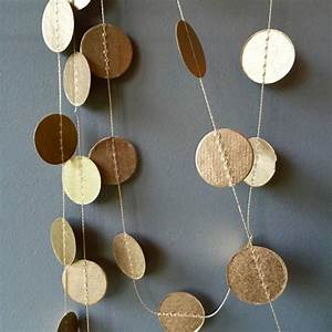 Dots, Paper, Garland, In, Gold, Five, Meters, By, Old, With, New