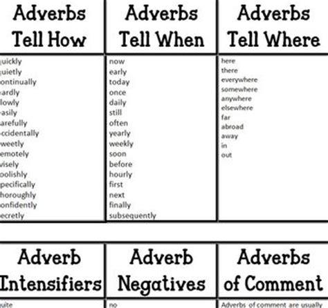 types of adverbs by shopgirl mrs v teachers pay teachers