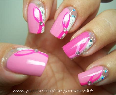 breast cancer nail designs breast cancer awareness nail design nail gallery