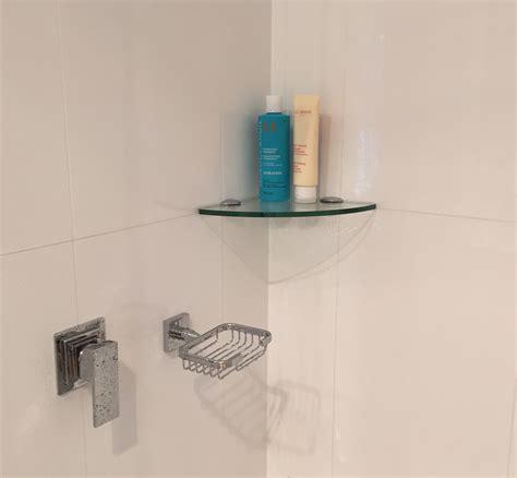 Clear Glass Corner Shelf Kit 200x200x8mm Topshelf
