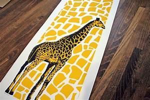 Giraffe Art Print - Pop Art Yellow - Nursery Kids Room ...