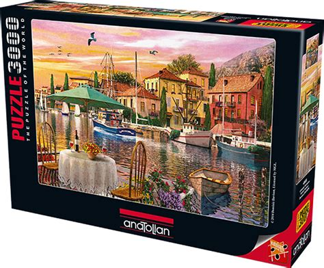 sunset harbour anatolian jigsaw puzzle  pieces
