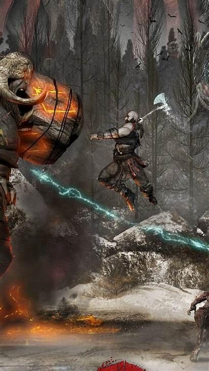 God War Iphone Kratos Wallpapers Phone Backgrounds