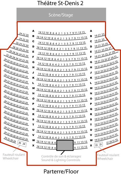 plan de salle theatre st denis th 233 226 tre st denis 2