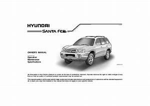 2006 Hyundai Santa Fe Owners Manual
