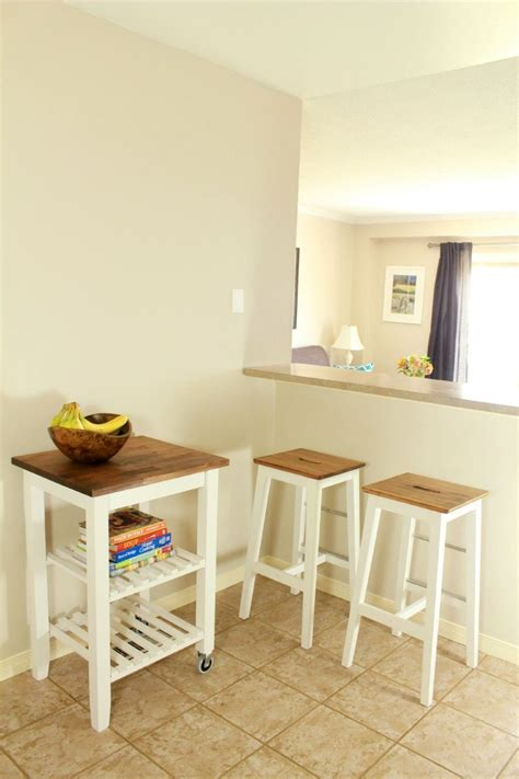 Ikea Bekvam Kitchen Island Cart by Picture Of Diy Ikea Bosse Stools And Bekvam Kitchen Cart