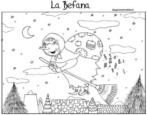 disegni da colorare bambini befana epifania disegni da