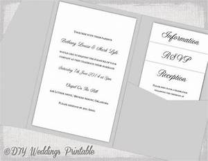 pocket wedding invitations template diy pocketfold wedding With 2 fold wedding invitation template