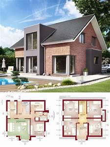 Haus Bauen Ideen Grundriss : einfamilienhaus neubau modern mit klinker fassade ~ Orissabook.com Haus und Dekorationen