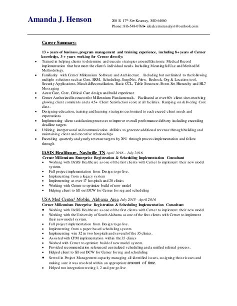 Updating Resume For New by New Henson Updated Resume 6 28 16