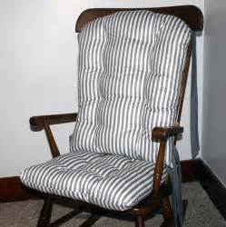 modern gray stripe rocking chair cushions rocking chair pads