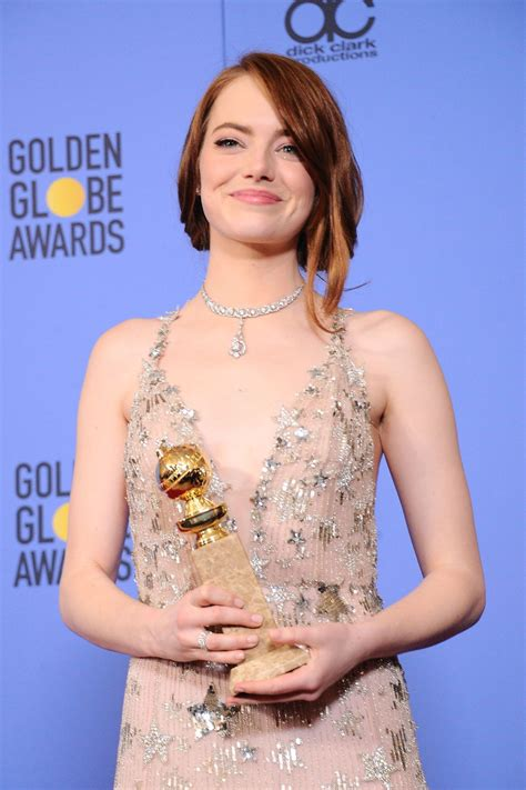 Emma Stone At 74th Annual Golden Globe Awards In Beverly