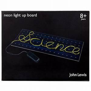 Buy John Lewis Neon Light Up Board