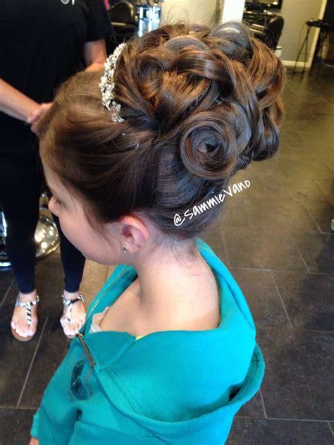 communion girl updo upstyle hair  work pinterest