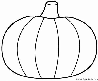 Coloring Pumpkin Pumpkins Pages Bigactivities Thanksgiving Printable