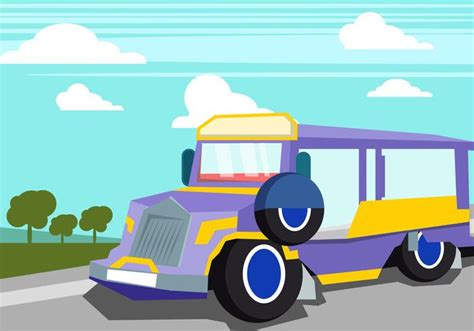 philippines jeepney vector jeepney in the summer time download free vector art