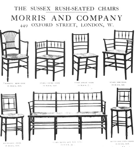 chaise en m tal sussex seated chairs by william morris and co