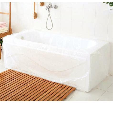 tub cover 10pcs large disposable travel bathtub cover folding