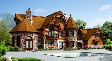 Storybook Log Cabin by Log Cabin Storybook Castle Home
